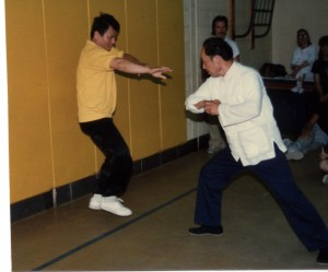 Wang Yen-nien demonstreerib fajini  Great River Taoist Center kooli seminaril, ca 1988.